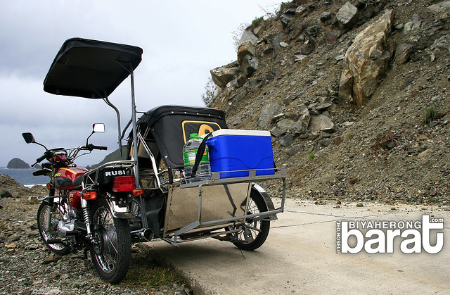 Tricycle to Digisit Beach Baler