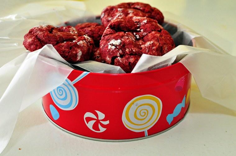 Red Velvet Gooey Butter Cookies