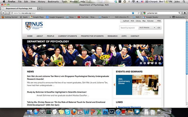 NUS psych page