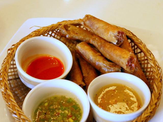 Chow Fun- Oriental duck rolls P165