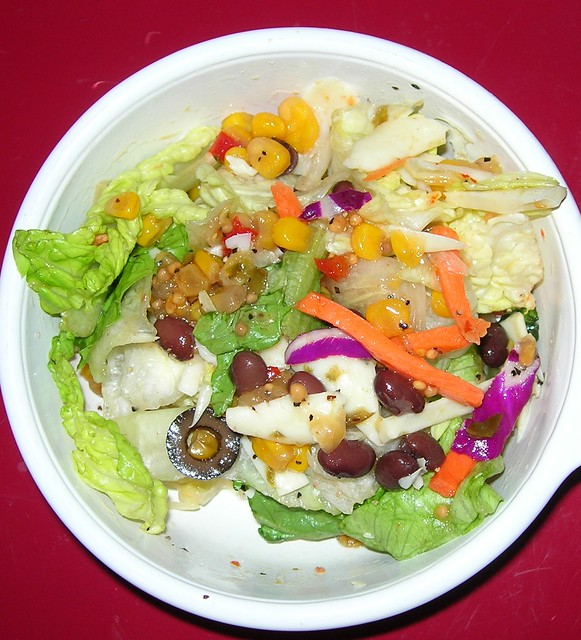 Lettuce Salad with Corn Salsa Dressing