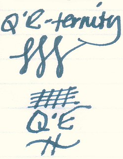 Noodler's Q'E-ternity Ink on Ampad Gold Fibre