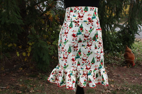 Holly Jolly Santa apron