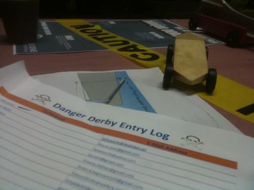 danger derby entry log