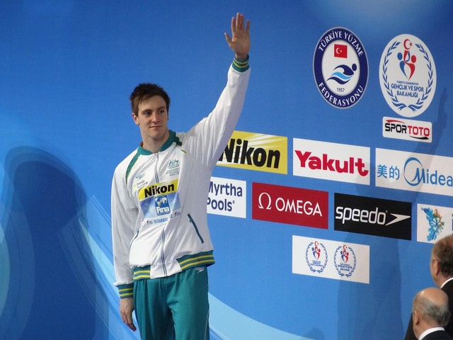 Tommaso D'Orsogna on the Istanbul 2012 medal podium