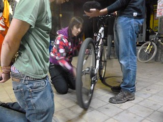 Taller de reparación de bicis