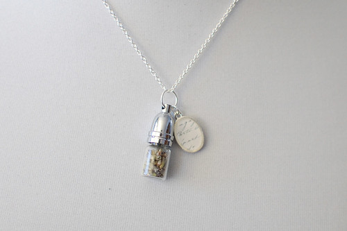 French Lavender Charm Necklace