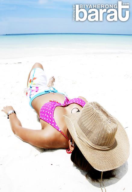 Sun bathing in Boracay Island