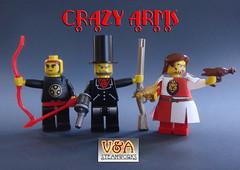 CRAZY ARMS info from V&A Steamworks