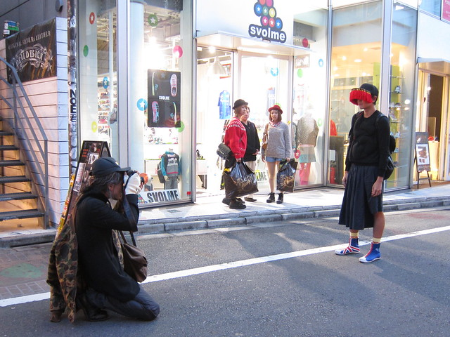 Jujiin being photographed for Street magazine