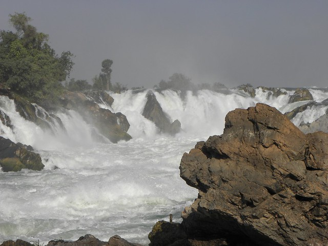 A waterfall on the Mekong in southern Laos