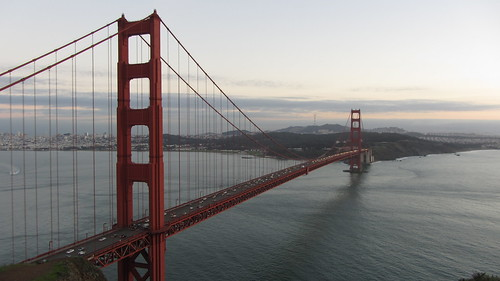 the golden gate at sunset