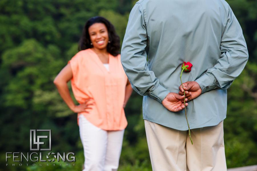 Shelley & CJ's Engagement Session   Heritage Green Park   Atlanta Wedding Photographer