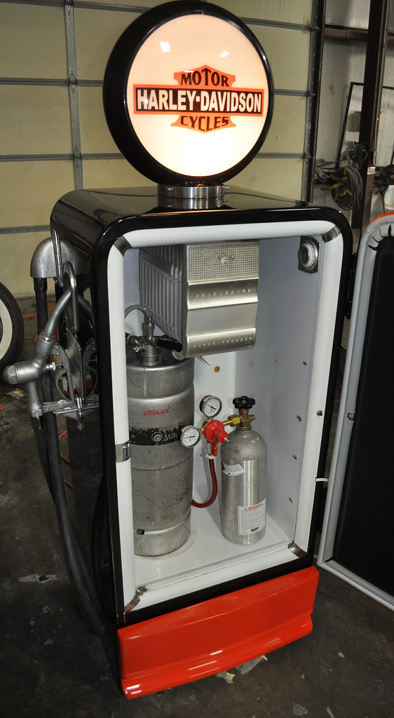 Harley Davidson gas pump kegarator Clean Cut Creations Vintage Auto Works