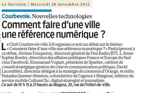 Courbevoie ville 3.0 - Arash Derambarsh (Le Parisien 28 novembre 2012) by Arash Derambarsh