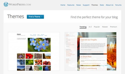 WordPress.com Theme Directory