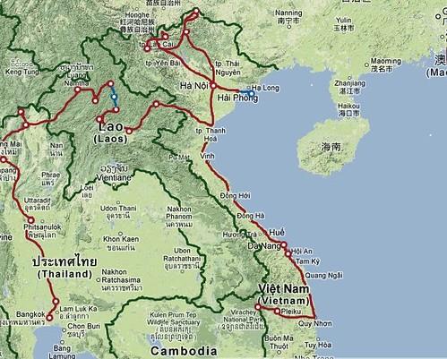 Trajet Vietnam