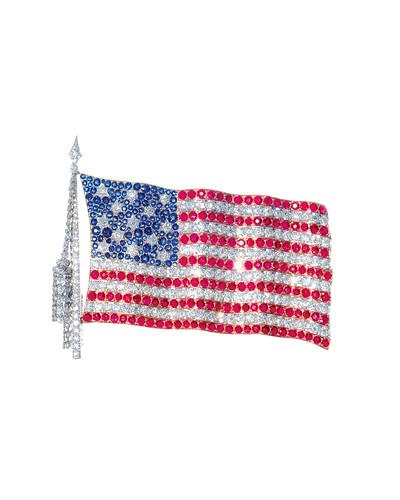 tiffany american flag