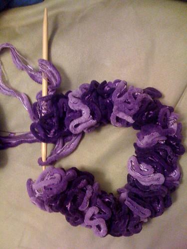 Ruffly scarf WIP