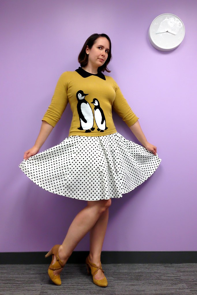 Penguins and polka dots, taken in ModCloth's aptly named Concord conference room. (Photo by Jenna.)
