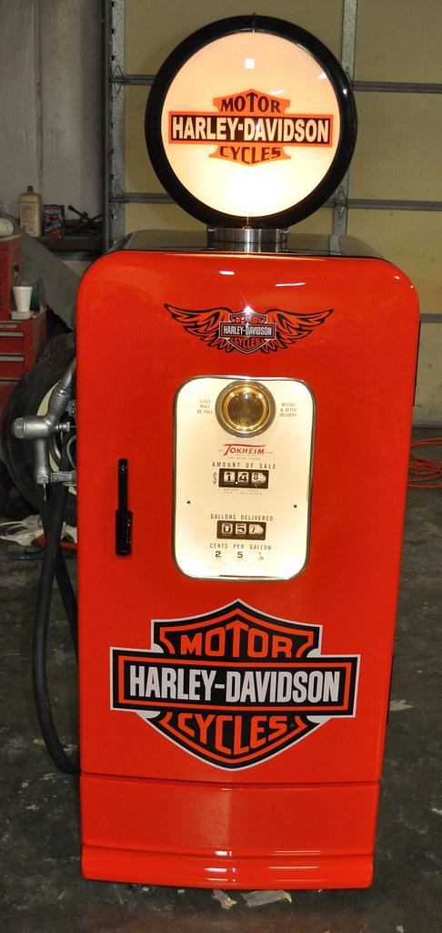 retro rocking chair zulu hanging harley davidson gas pump kegarator clean cut creations vintage auto works