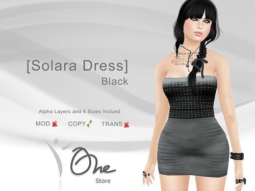 [Solara Dress] Black