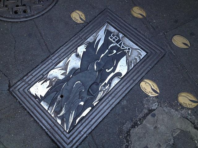 Decorative sidewalk cover
