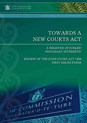 Towards a New Courts Act - A Register of Judges Pecuniary Interests