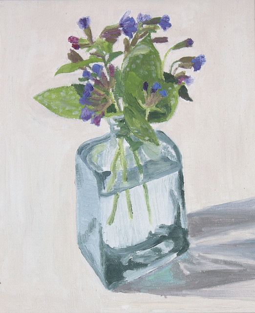 Janet E Davis, Lungwort, oils on canvas, c. 1990s.
