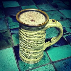 Nice late night mug of hot carocoa. (Carob, chocolate free)