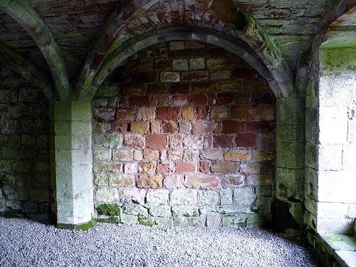 Facing stones from the Wall reused at Lanercost Priory