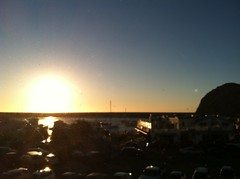 View  from Bella Vino, a mirror image of the Sunset and Morro Rock