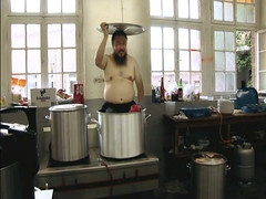 Ai Weiwei in a big pot