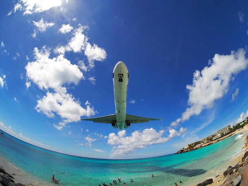 Landing at SXM