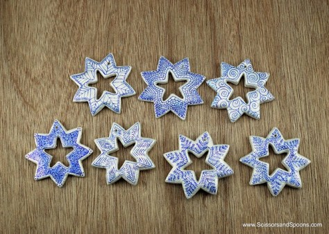 Salt Dough Snowflake Ornaments