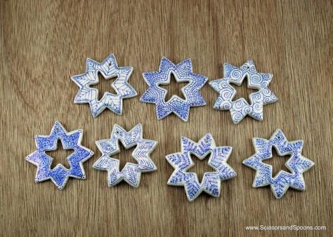 Salt Dough Snowflake Ornaments