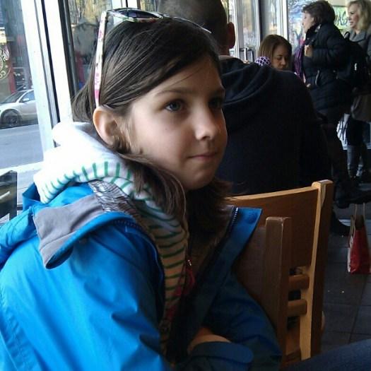 Sym in Starbucks