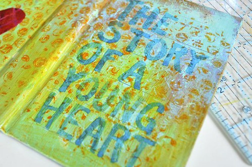 paint text on using a translucent glaze