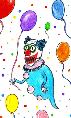 The birthday clown is here by Giant Hamburger