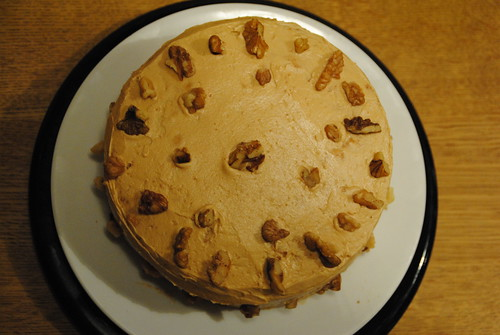 coffee and walnut night fuel cake