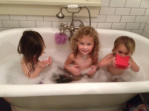my girls are drinking the bathwater. by telfandrea