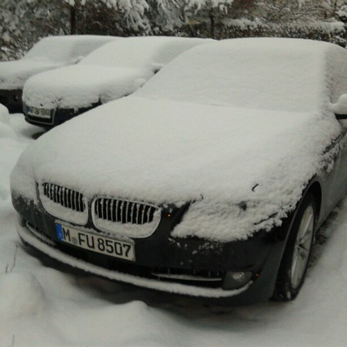 My car has been covered by Snow!