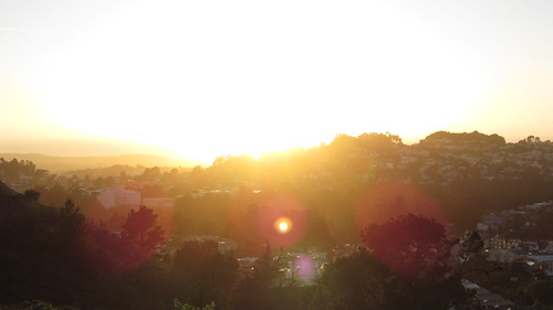 sunset from twin peaks (lens flare)