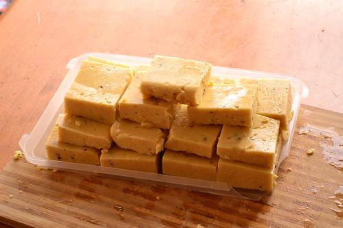 Garbanzo Polenta Cakes