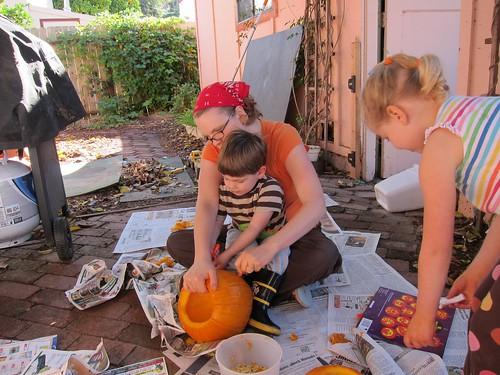 carving pumpkins 2