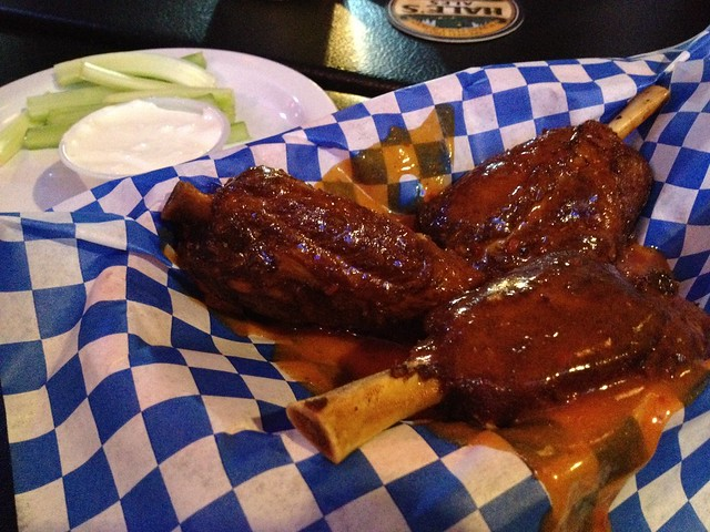 Savory pork wings - Wingmasters Sports Bar