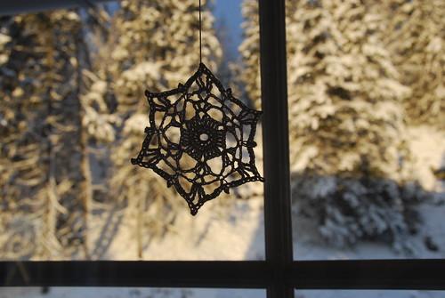 White crochet star