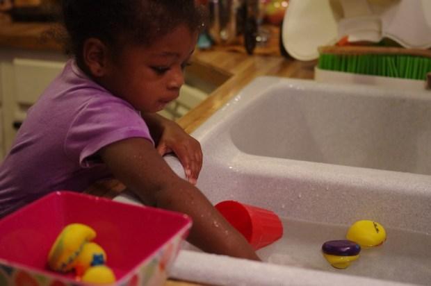 Fun at the sink