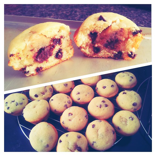 Cookie Dough Stuffed Muffins