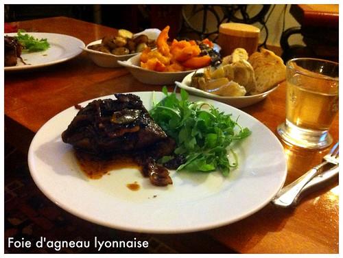 Foie d'agneau Lyonnaise